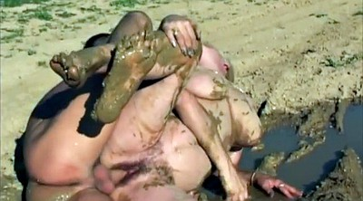 Bbw group, Bbw mature, Mud, Mature group