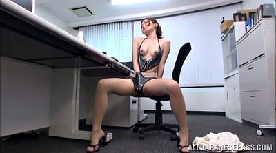 Asian solo, Asian model, Pantyhose orgasm, Asian office