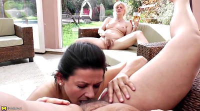 Piss, Young lesbian, Young daughter, Old young lesbian, Mother and daughter, Mature lesbian piss