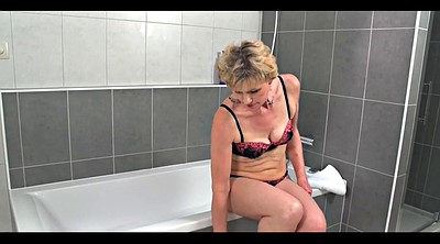 Bathroom, Granny small tits