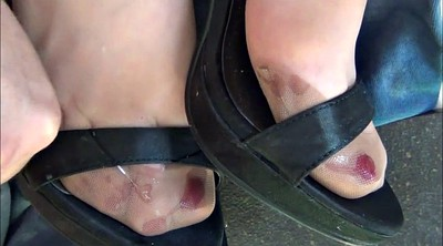 Nylon, Nylon feet, Stockings foot, Stockings feet, Satin