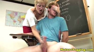 Young old, Mature handjob