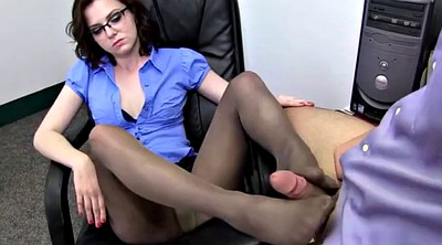 Foot job, Pantyhose feet, Pantyhose foot