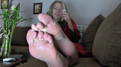 Mature feet, Mature foot, Blonde feet