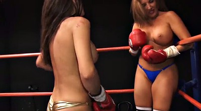 Fight, Mature lesbians, Boxing, Topless