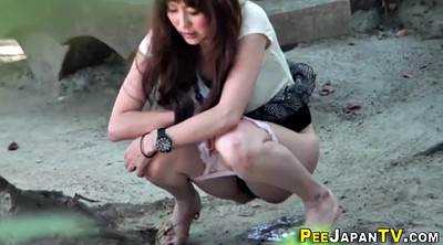 Urine, Teen outdoor, Outdoor pee, Japanese peeing