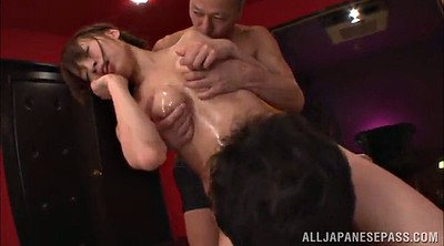 Oil, Japanese double penetration, Japanese big tit