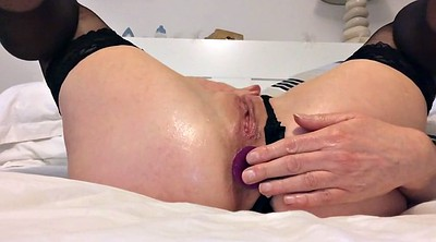 Plug, Peeing, Butt plug, Anal squirt, Squirt pussy, Anal squirting