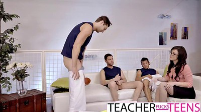 Double, Teacher anal, Penetration, Anal sex, Students, Big anal