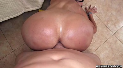 Oiled, Chubby anal, Big ass cum, Big ass anal, Kitty, Cum on face