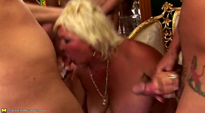 Old, Granny gangbang, Group sex, Youngsters, Mature group