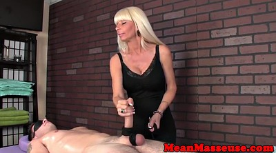 Mature massage, Handjob bondage