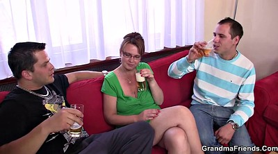 Threesome anal, Threesome mature anal, Hot granny, Double granny