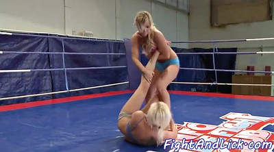 Wrestling, Cat, Pussylicking, Fight