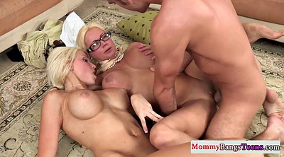 Mom threesome, Teen mom, Big tits mom