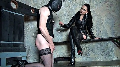 Spanked, Cfnm, Leather boot