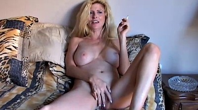 Blonde cougar, Smoking, Sexy grannies