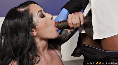 Deepthroat, Monster cock, Monster black, Clothed
