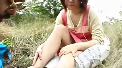 Japanese outdoor, Asian sex, Riding cock