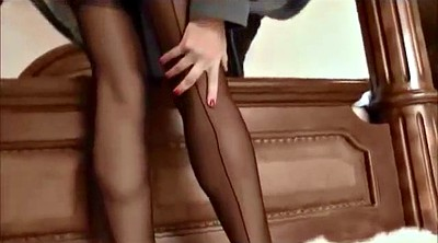 High heels, Black stocking