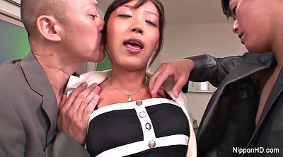Japanese young, Japanese threesome, Japanese office
