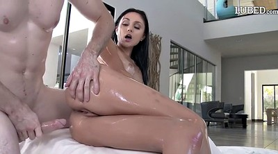 Ariana marie, Tit, Oil pussy, Latina doggy fucking brunette
