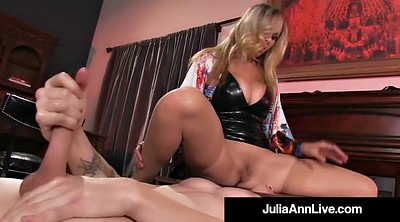 Julia ann, Ann, Face fuck, Young pussy, Young big tits, Mature handjob