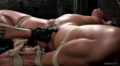 Squirting, Peeing, Bdsm squirt, Black bondage, Fisting orgasm, Fisted