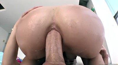 Oil, Anal gaping, Oiled anal, Big booty anal, Huge booty, Gape anal