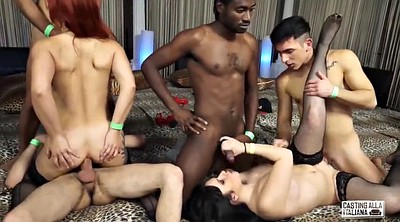 Casting anal, Italian orgy, Italian anal, Interracial anal