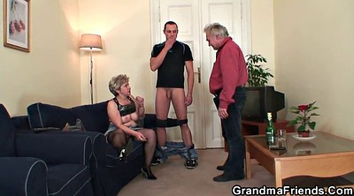 Old, Old wife, Young couple, Wife gangbang