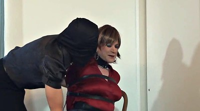 Bondage, Crossdresser, Sandra, Crossdressing