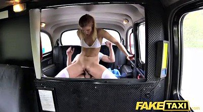 Fake, In car, Sexy lingerie