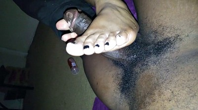 Footjob, Black foot, Foreign