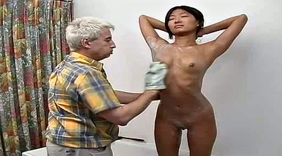 Asian granny, Korean blowjob