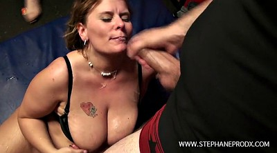 Bbw gangbang, French gangbang, Chained, Chain