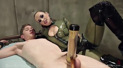 Bdsm slave, Latex handjob, Mistress slave