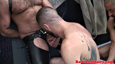 Leather, Blowbang, Bears, Chubby ass
