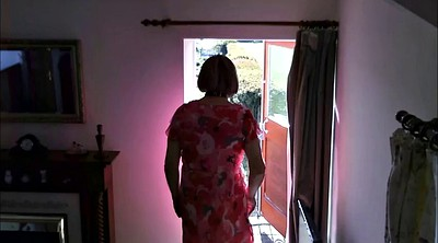 Granny solo, Solo outdoor, Dress, Voyeur dressing, Old granny