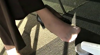 Foot, Nylon feet, Candid feet, Candid