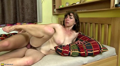 Hairy old, Mature young, Big cock mom