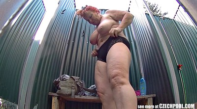 Voyeur shower, Czech mature