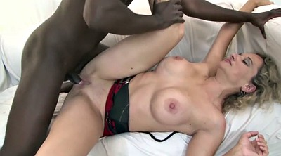 Interracial gangbang
