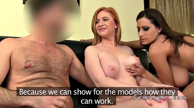 Cast, Test, Female agent, Busty threesome, Anal casting