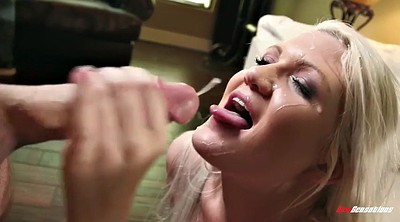 Facial, Eating pussy, James deen, Pussy spanking