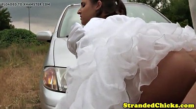 Bride, Car, Doggy