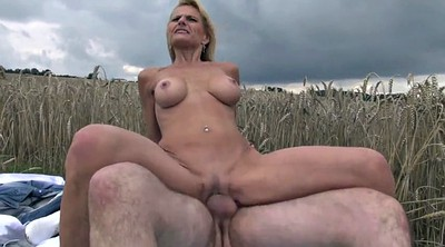 Mature outdoor, Skinny mature