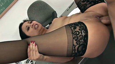 Asian cumshot, Asian stockings