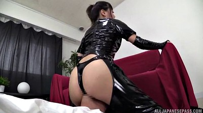 Latex, Japanese butt, Rimjob, Japanese handjob, Ass licking