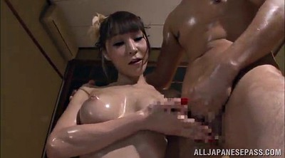 Hand job, Asian big tits, Hand